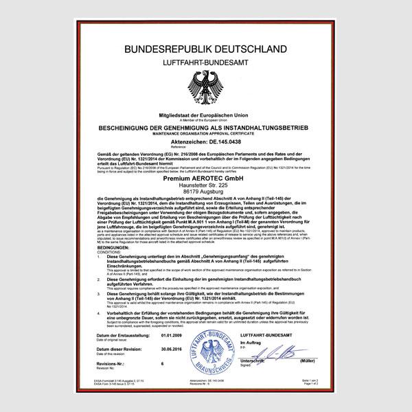 Zertifikate - Premium AEROTEC